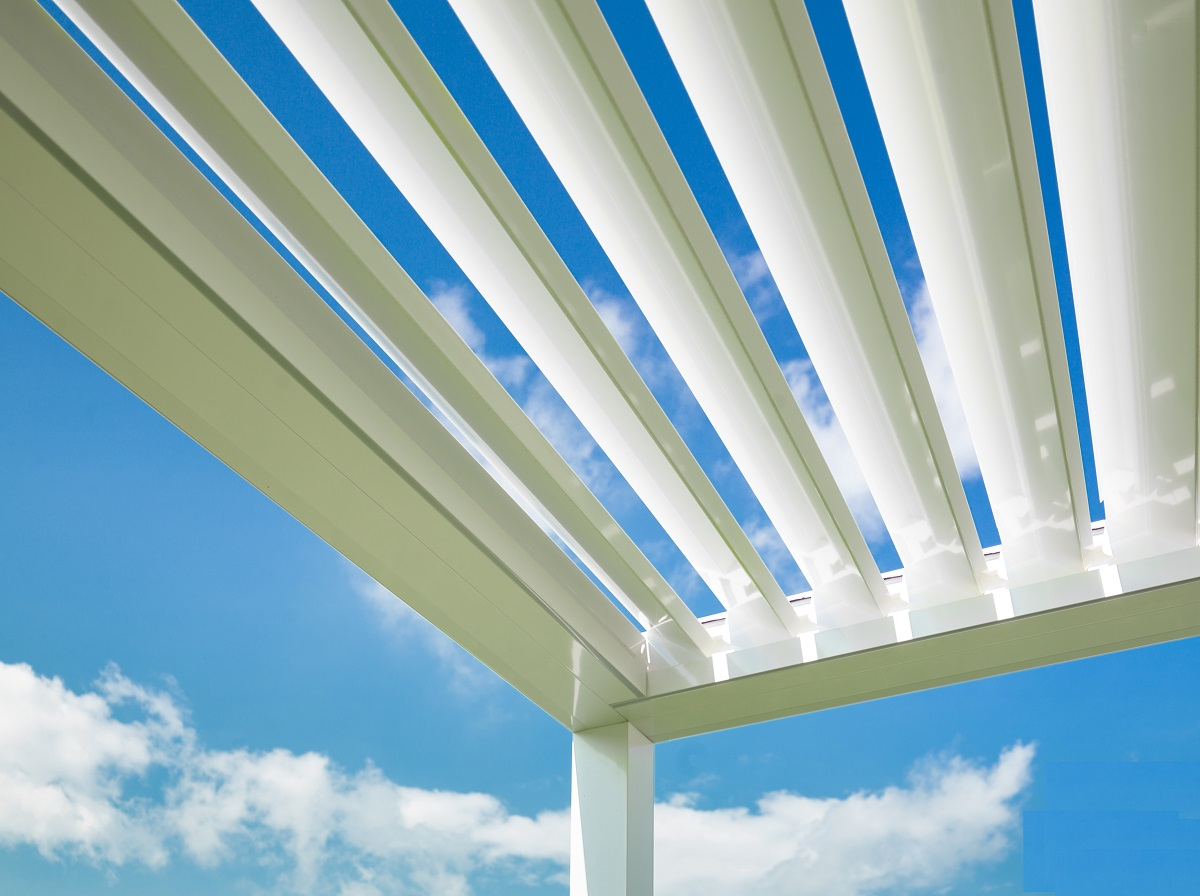 Motorized Louvered Pergola Structures