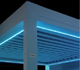 Blue LED strips for Sunair Pergola structure.jpg