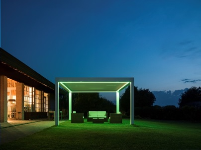 The NOMO U0026 RIALTO Pergola® Awning Systems Can Be Fitted With Remote  Controlled LED Mood Lighting RGB Strips Around The Perimiter Of The Gutter  System And In ...