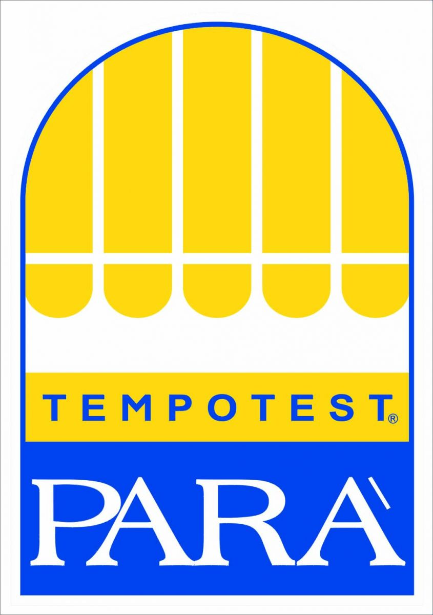 para acrylic logo in blue and yellow tempotest