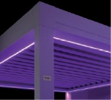 Purple LED strips for Sunair Pergola structure.jpg