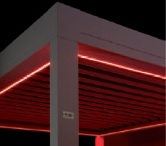 Red LED strips for Sunair Pergola structure.jpg