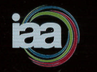 blue red and green circles around iaa logo