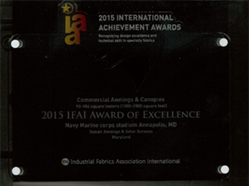 2015 international achivement awards plaque
