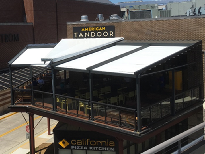 california pizza kitchen and american tandoor with deck eating area