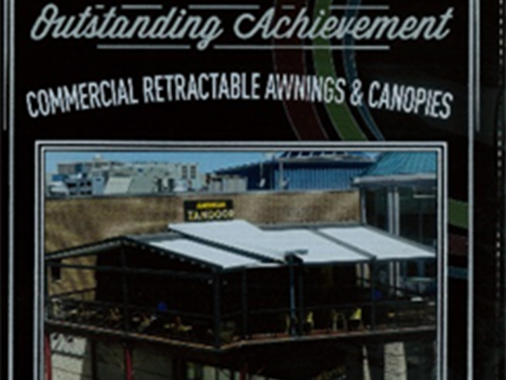 outstanding achievement award for commercial retractable awnings & canopies