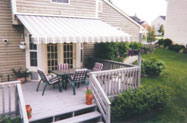 small thumbnail of an awning extended over small deck