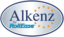 alkenz by rollease logo with yellow dots