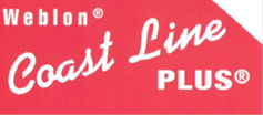 Weblon Coast Line Plus logo in red and white