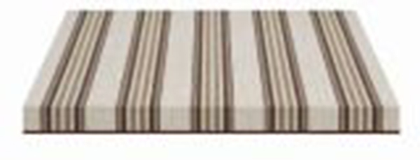 tan brown and cream striped fabric swatch
