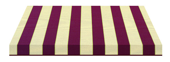 thick red and cream striped fabric swatch
