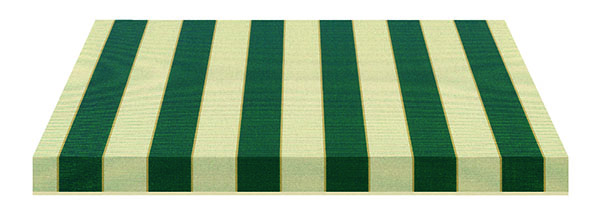 green and cream striped fabric swatch
