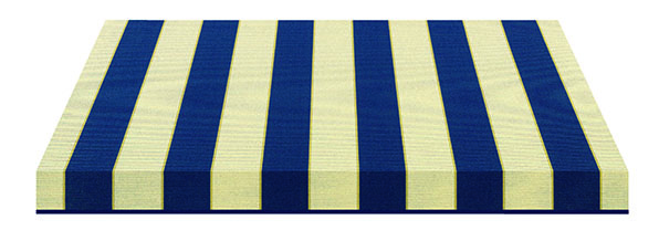 dark blue and cream striped fabric swatch