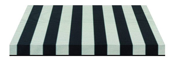 black and white striped fabric swatch