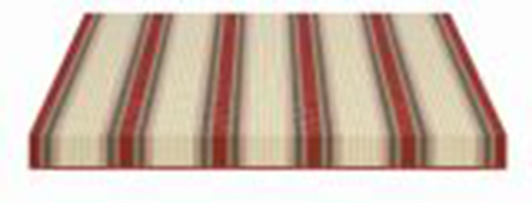 red brown and cream striped fabric swatch
