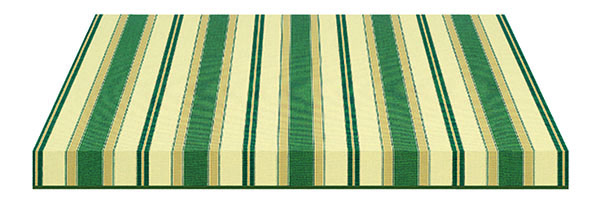 green tan and cream striped fabric swatch