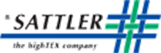 sattler logo with a blue and green woven pattern