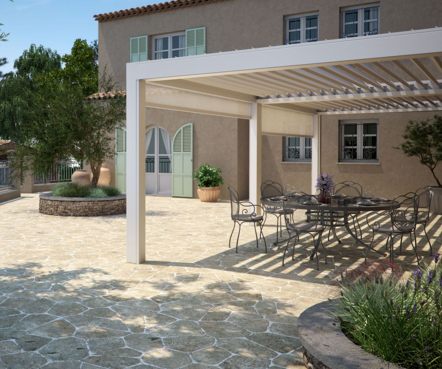 Louvered Roof Pergola System