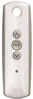 silver remote with up and down arrrow and only one channel