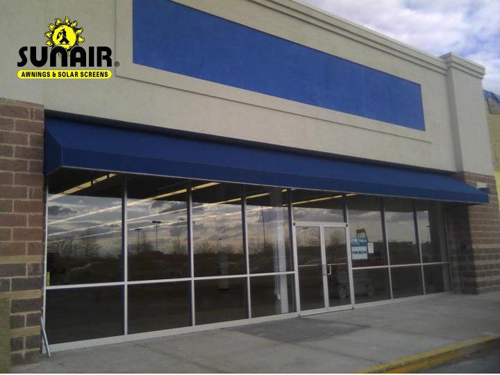 Superior Shed Canopy On Store Front By Sunair Awnings.