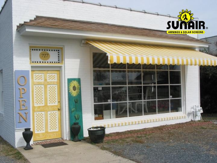 Sunair Retractable Awning On Store Front.JPG